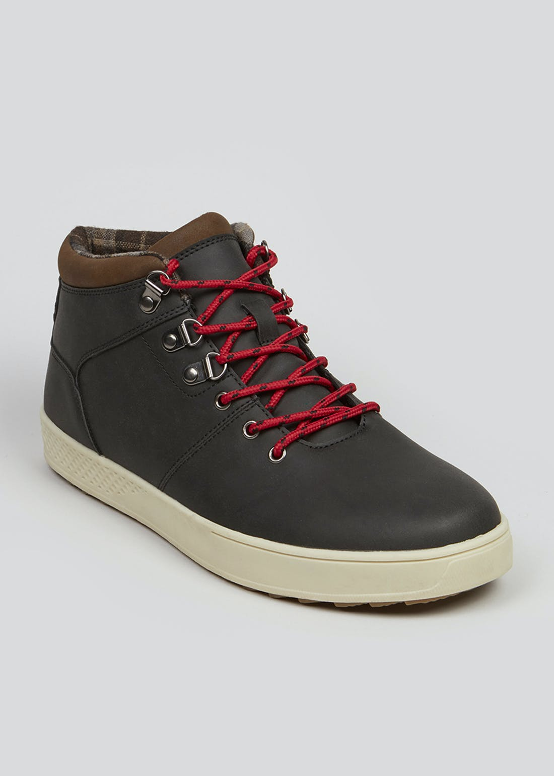 Black Lace Up Hiker Boots