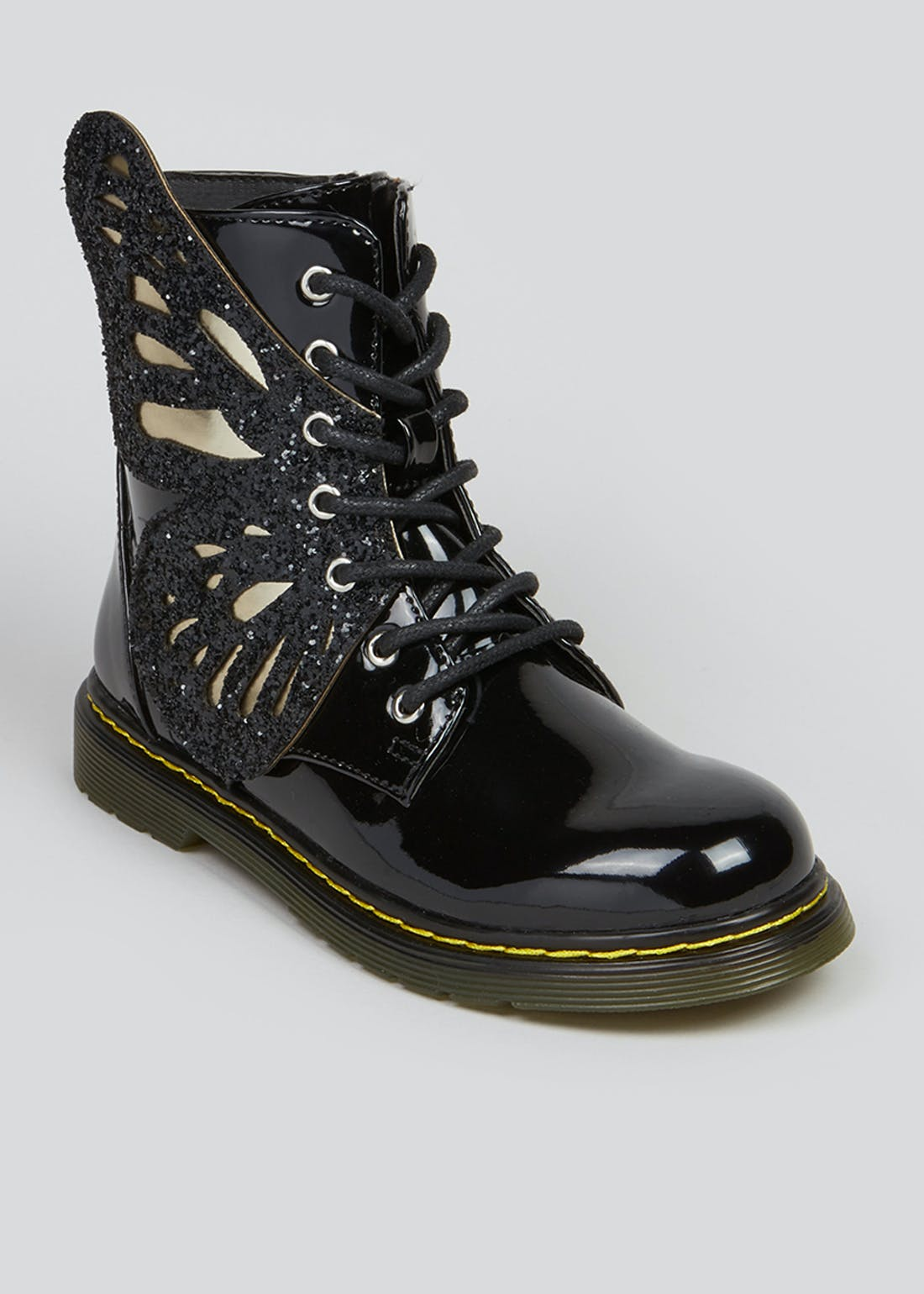 Girls Black Butterfly Boots (Younger 10-Older 5)