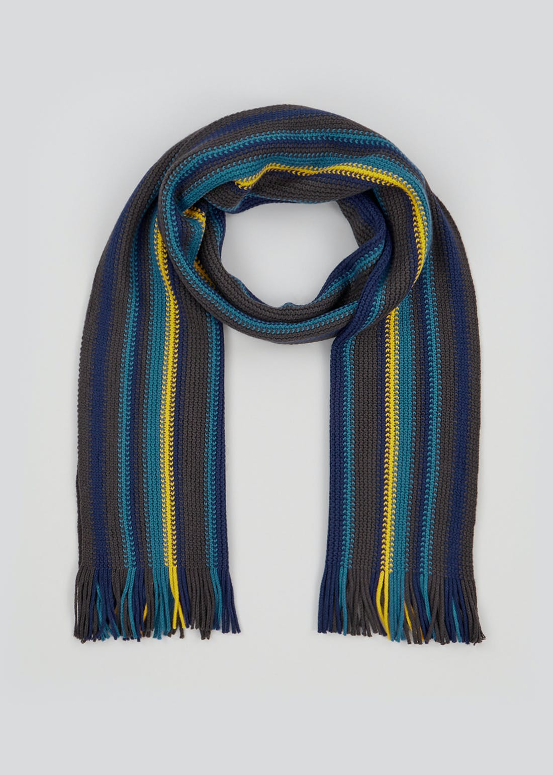 Knitted Stripe Scarf