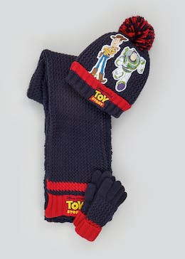 Kids Disney Toy Story Hat Scarf & Gloves Set (3-10yrs)