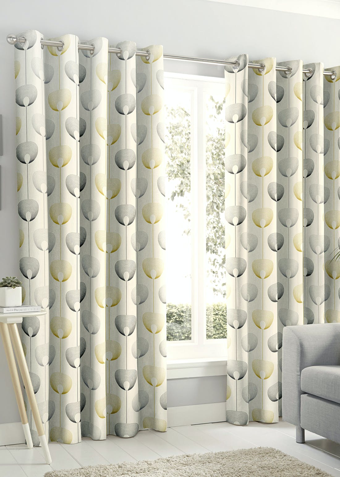 Fusion Delta Eyelet Curtains