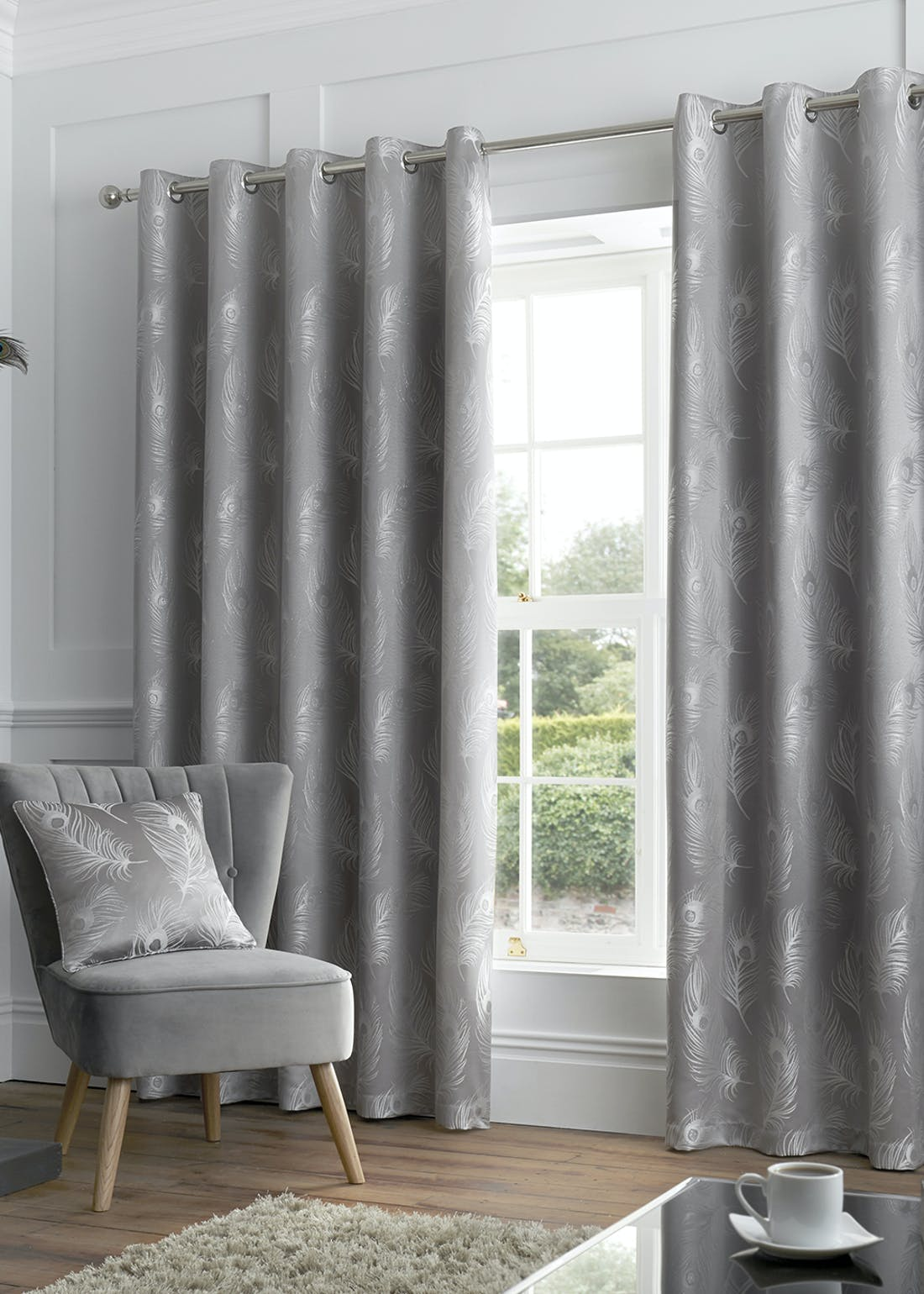 Curtina Feather Eyelet Curtains