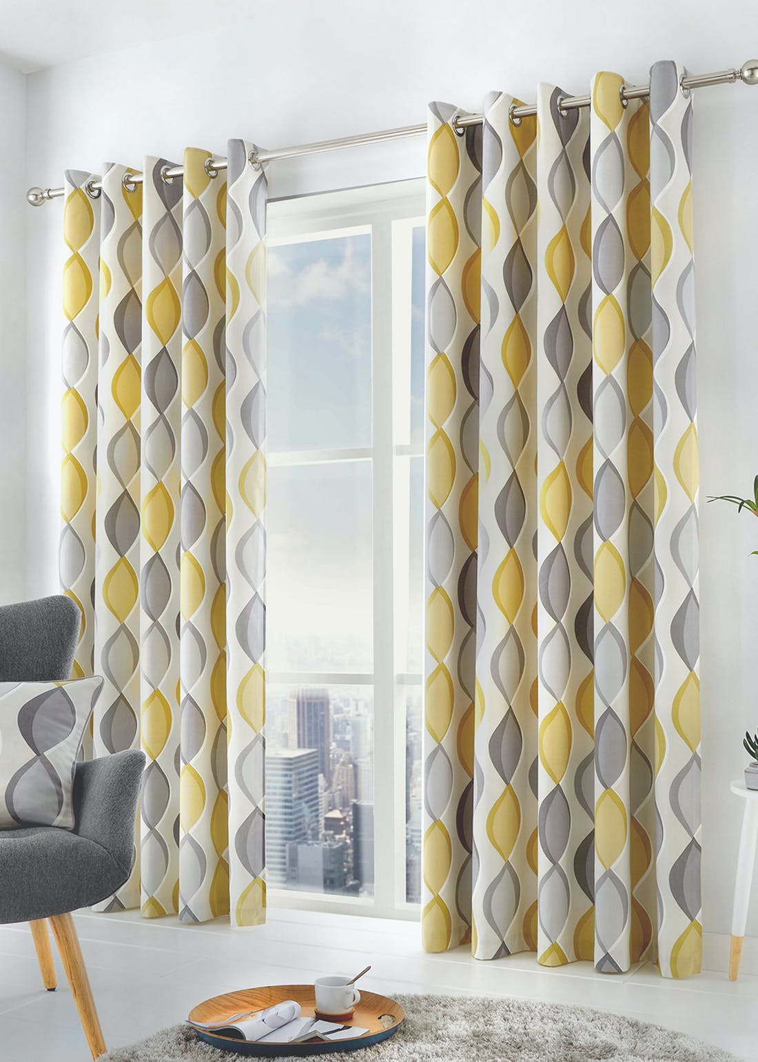 Fusion Lennox Eyelet Curtains
