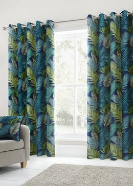 Fusion Tropical Eyelet Curtains