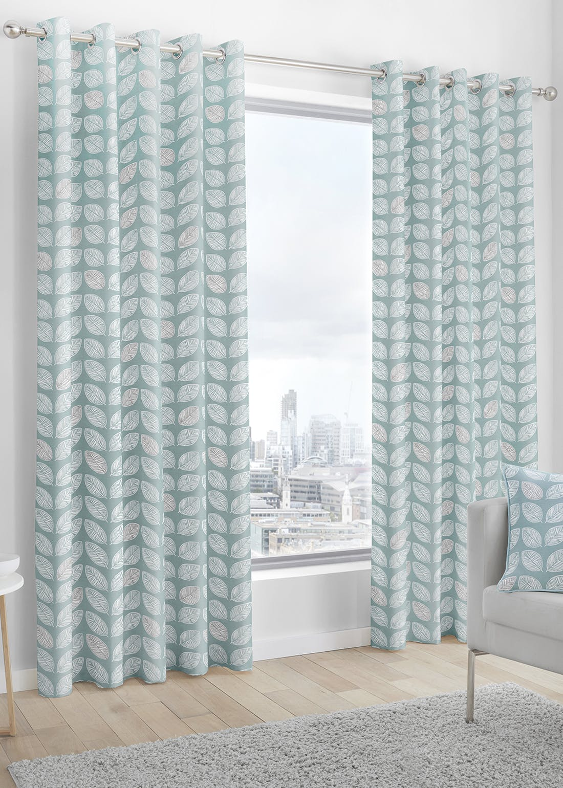 Fusion Delft Eyelet Curtains