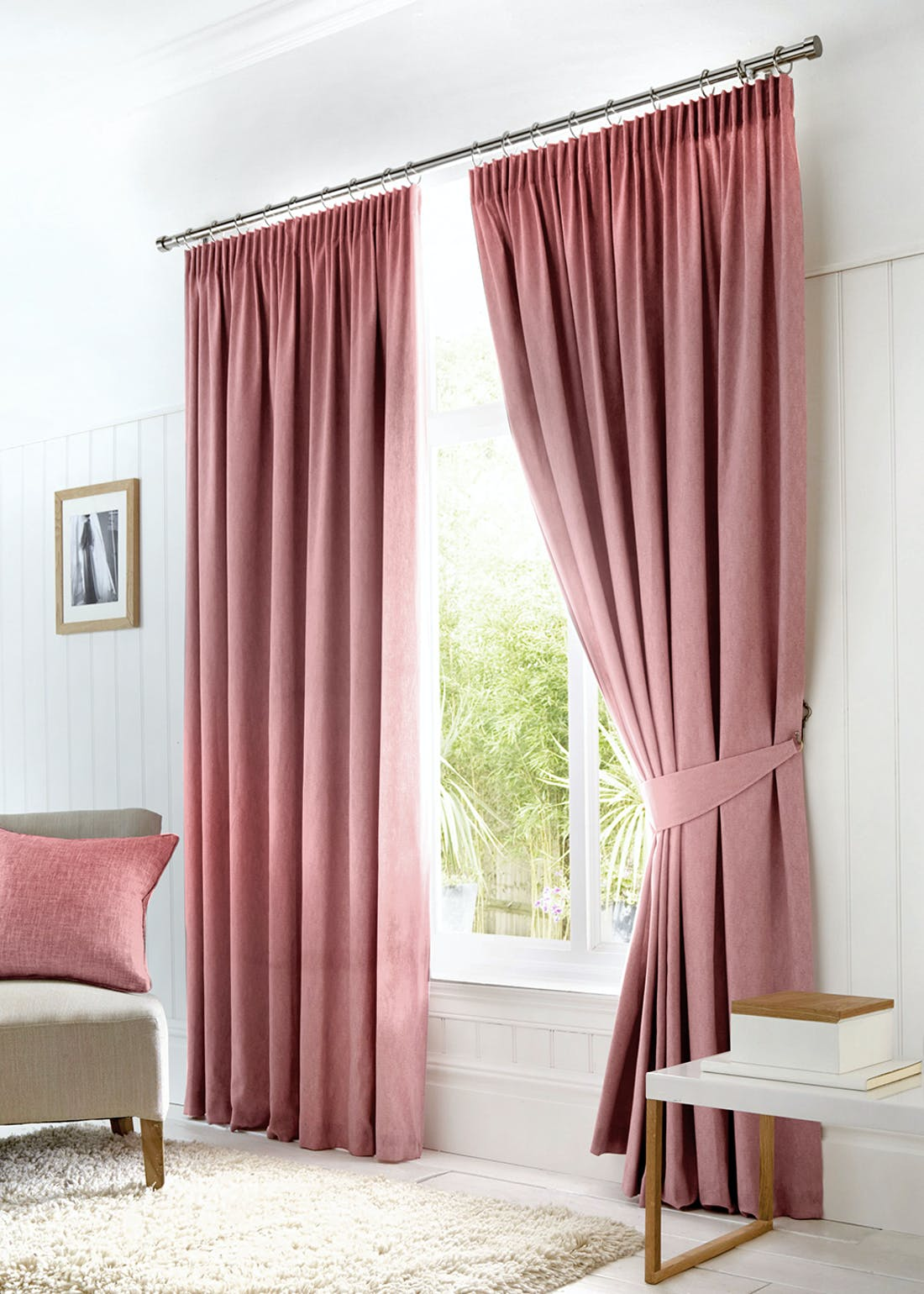 Fusion Dijon Pencil Pleat Blackout Curtains