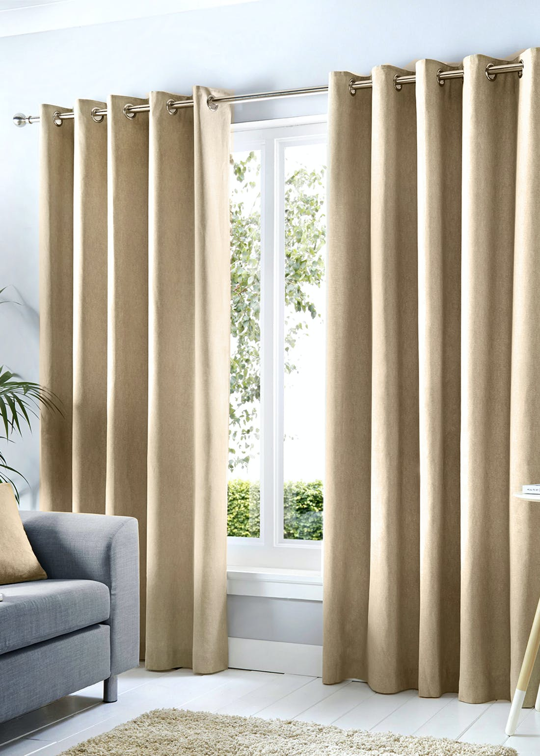 Fusion Sorbonne Eyelet Curtains