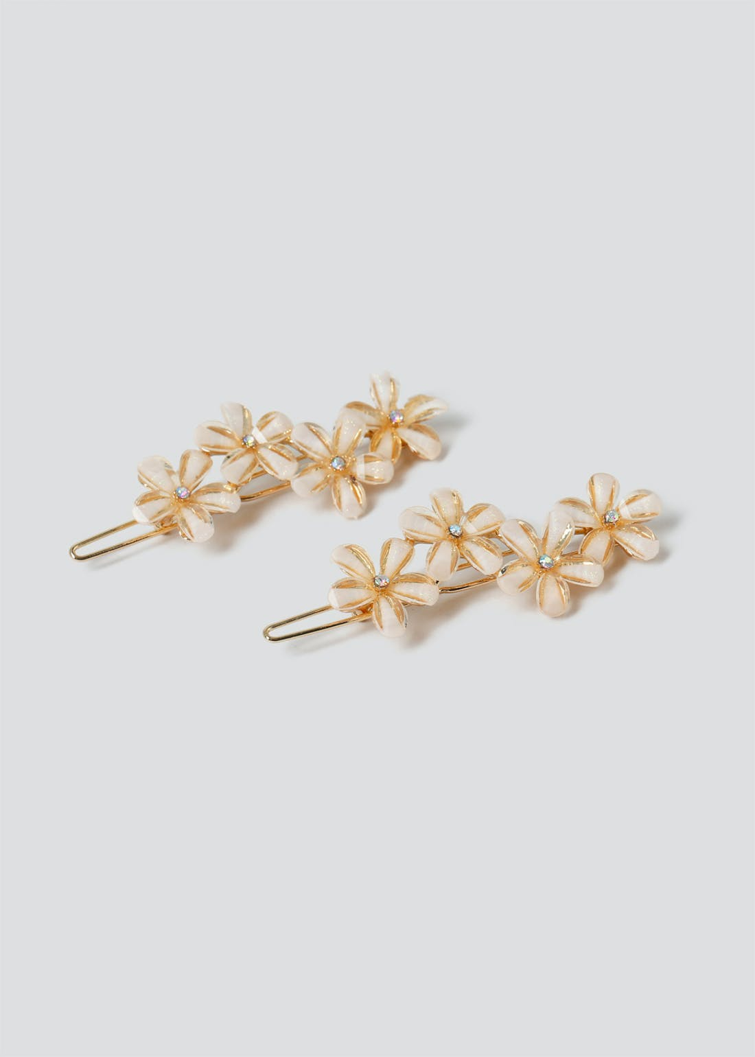 2 Pack Flower Facet Hair Slides
