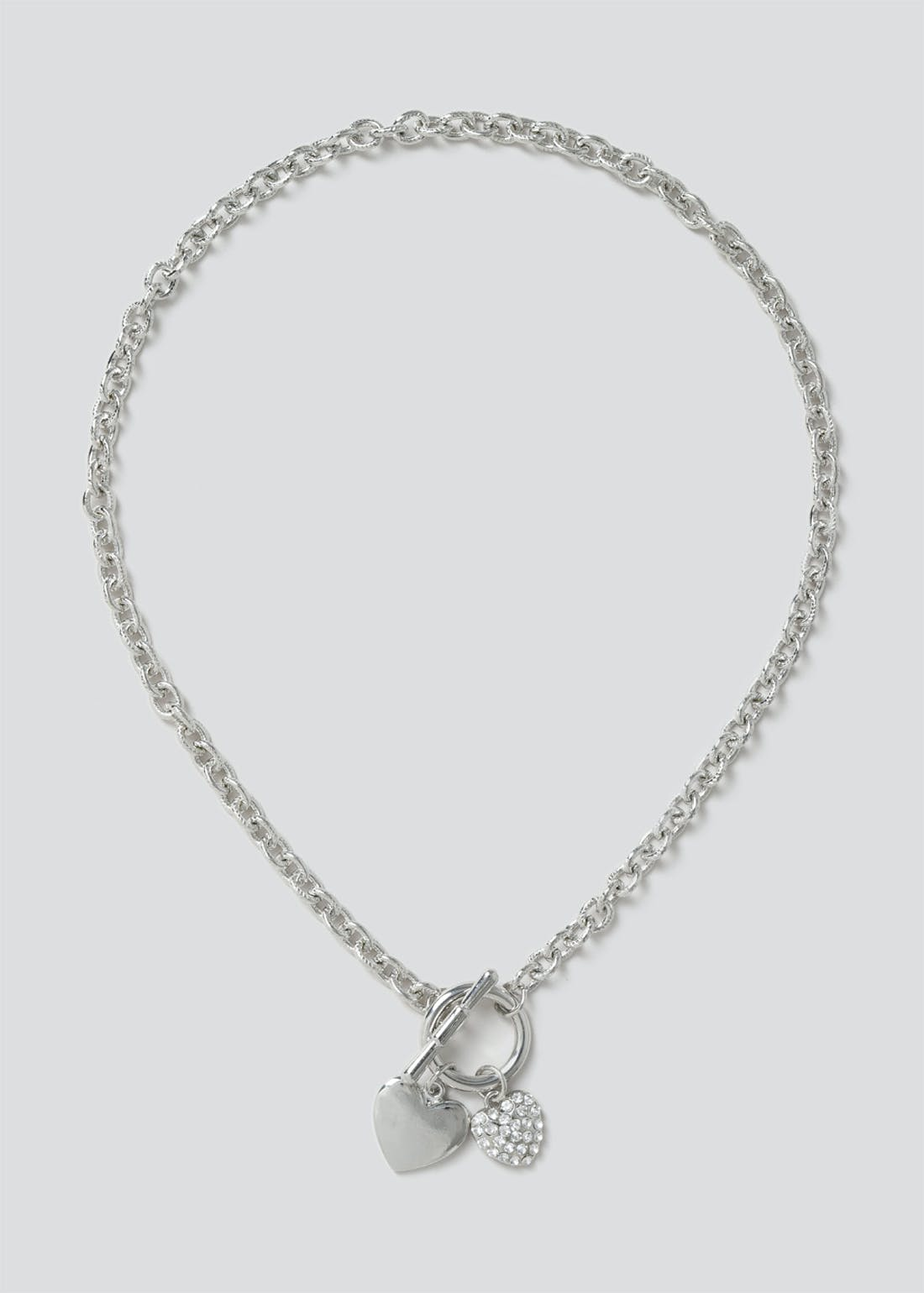 Pave Heart T Bar Chain.
