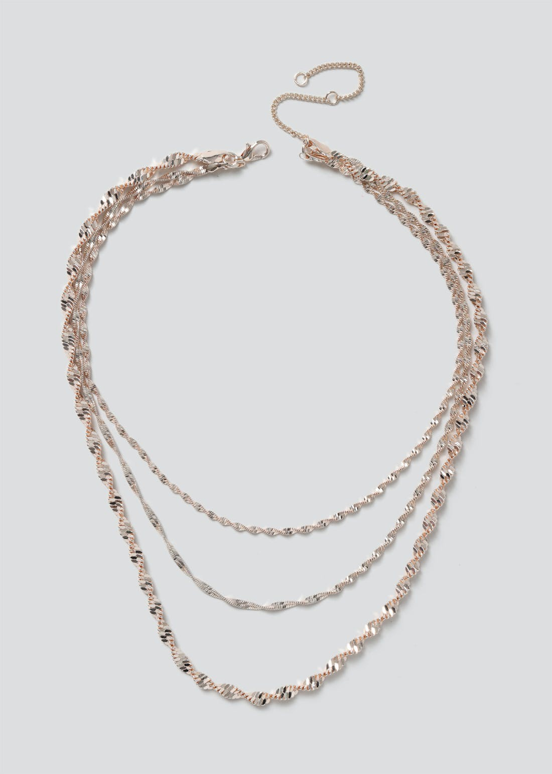 Twist Multi Row Chain Necklace