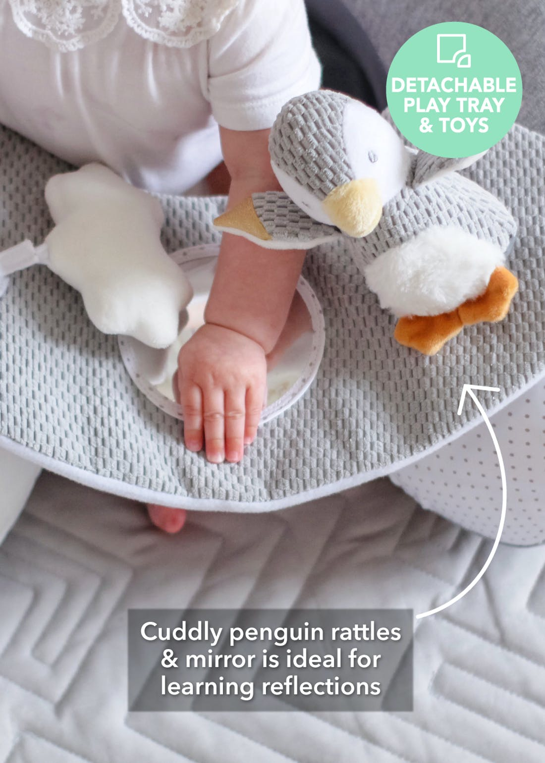 Nuby Penguin Sit-Me-Up Baby Seat