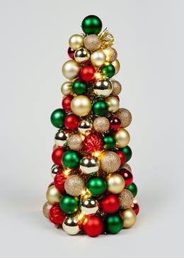 LED Christmas Bauble Tree (40cm x 17cm)