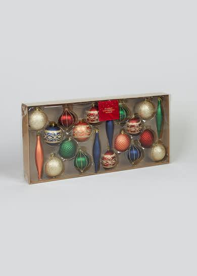 20 Pack Luxury Christmas Baubles
