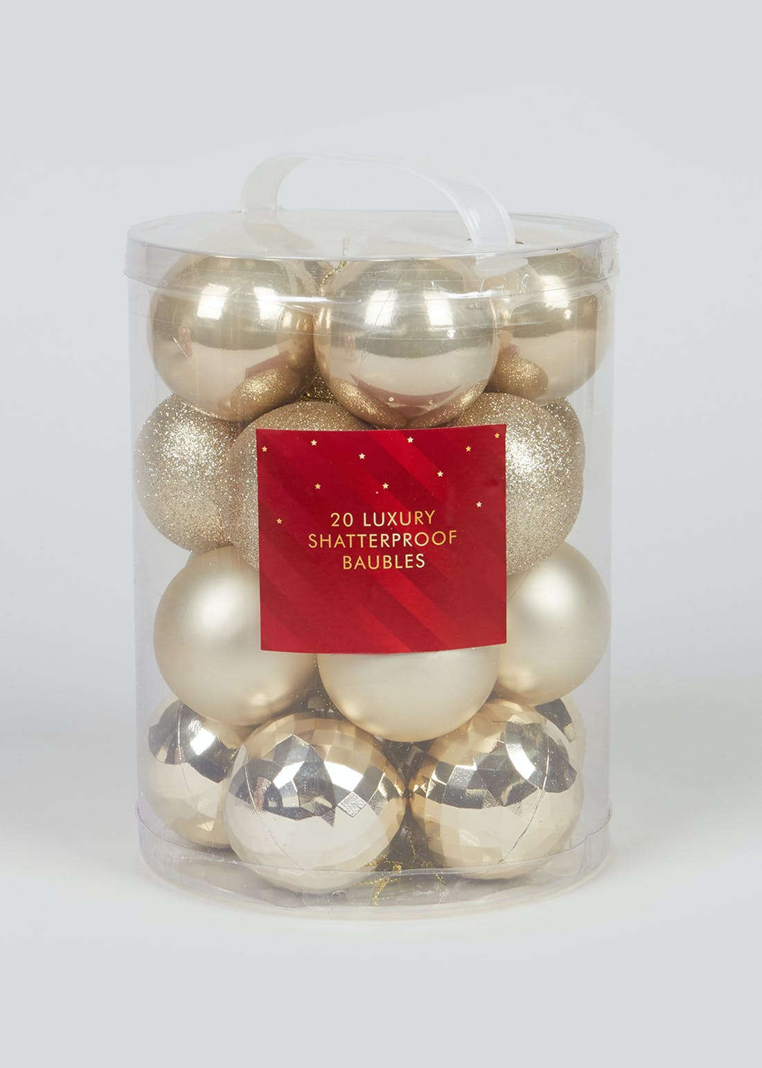 20 Pack Shatterproof Christmas Baubles