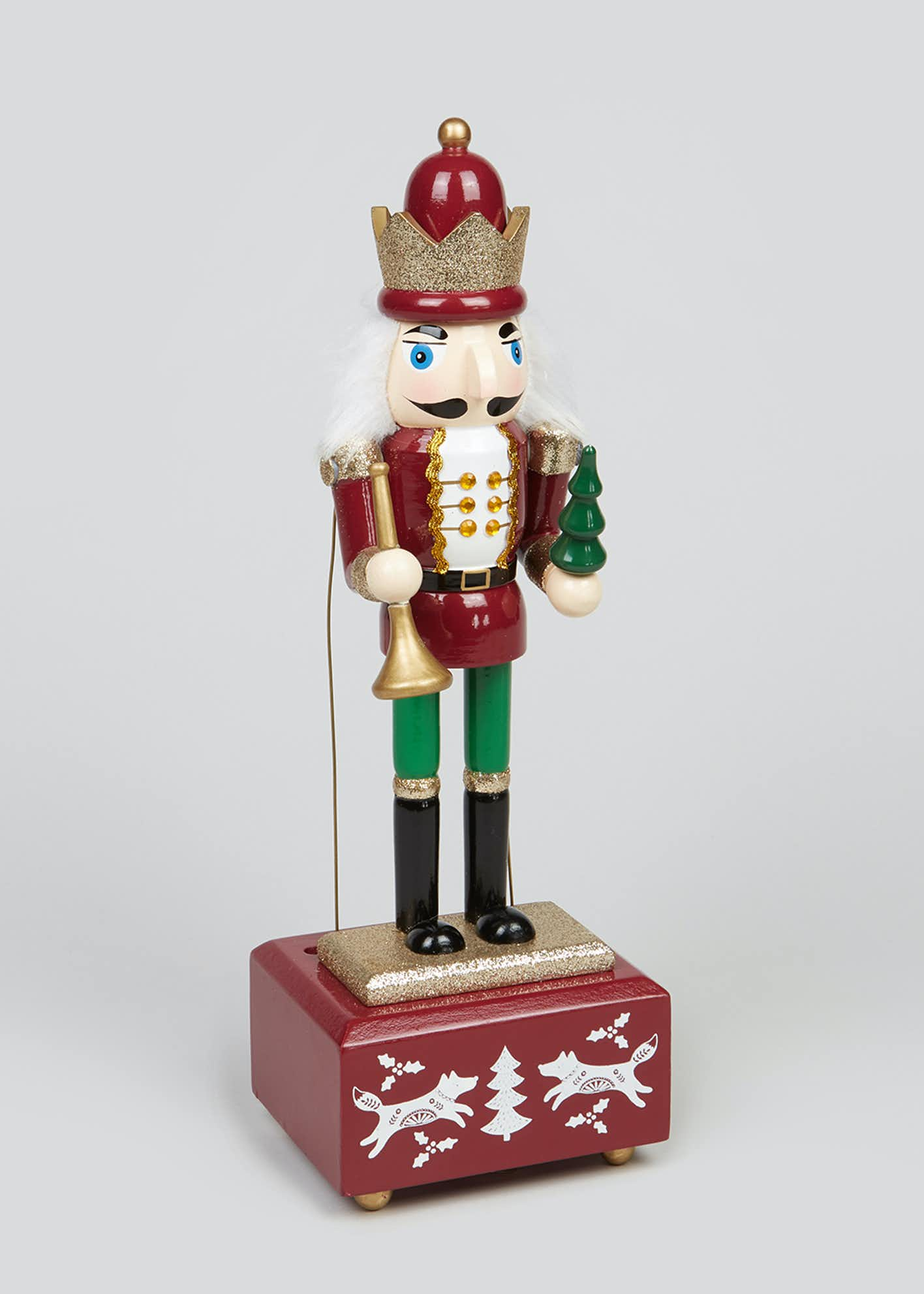 Musical Christmas Nutcracker (32cm x 10cm)