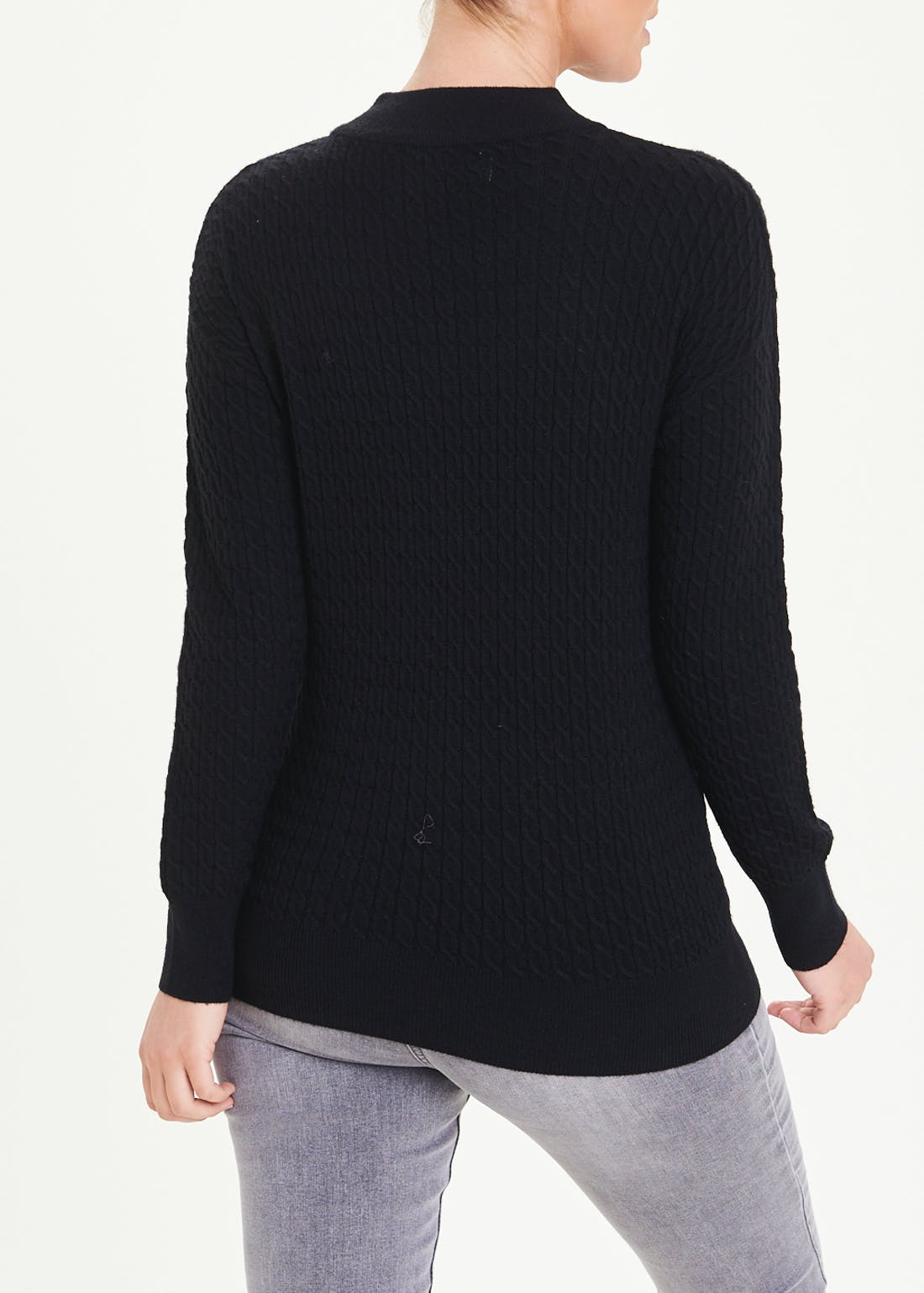 Funnel Neck Baby Cable Jumper