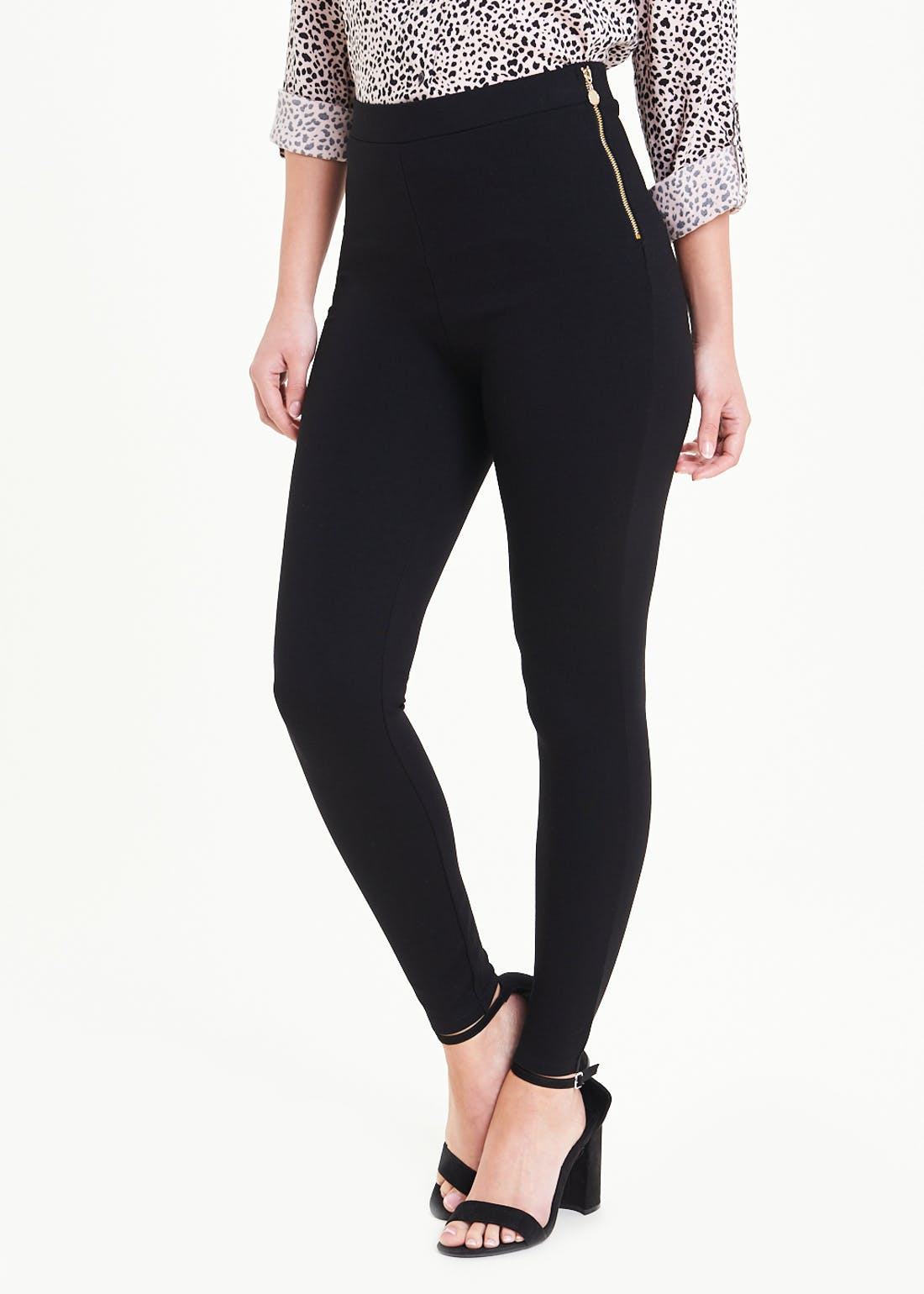 Body Shaper High Waisted Zip Leggings