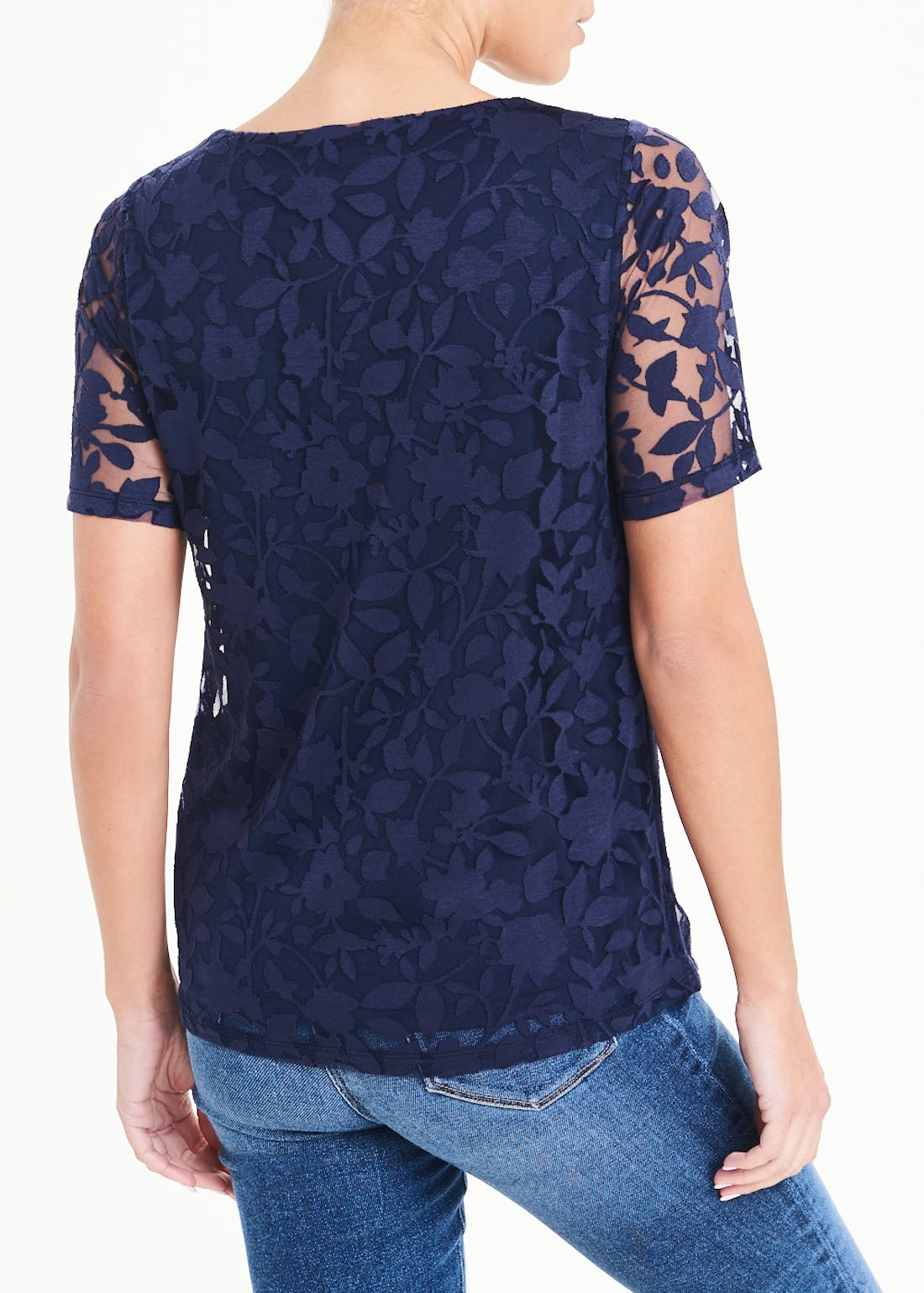 Papaya Classic Burnout Floral Top