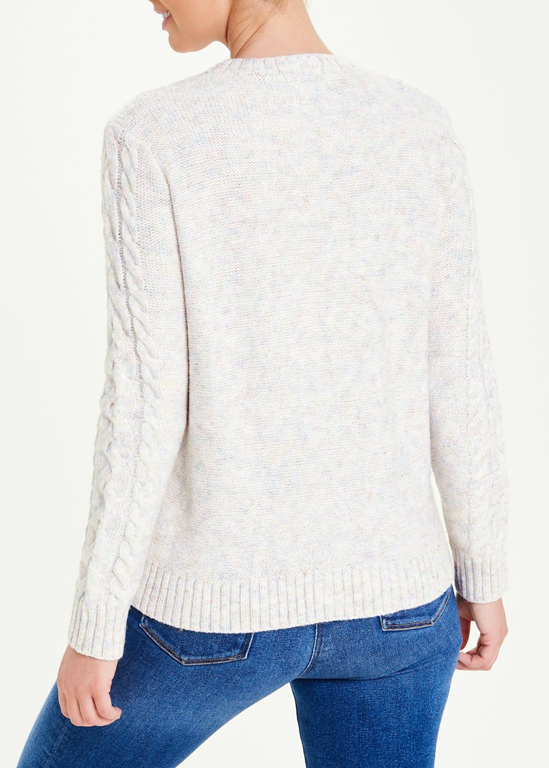Textured Cable Knit Jumper