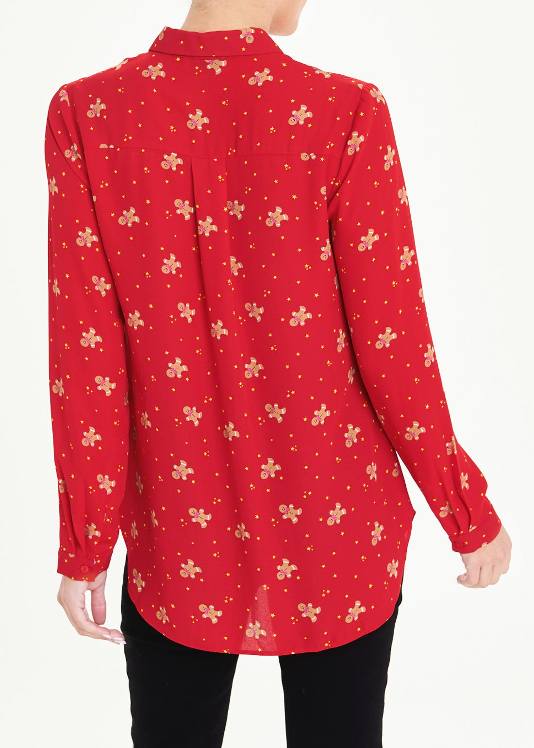 Red Gingerbread Man Christmas Shirt