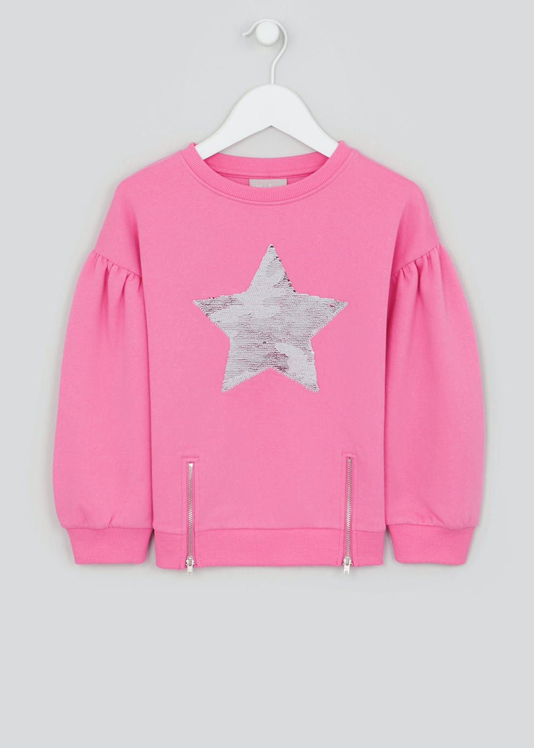 Girls Flippy Sequin Star Sweatshirt (4-13yrs)