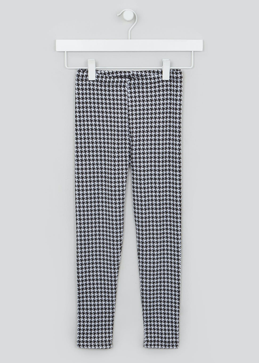 Girls Dogtooth Ponte Leggings (4-13yrs)