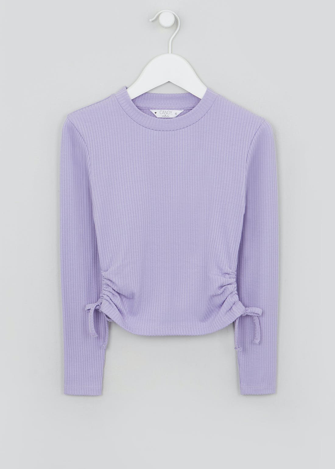 Girls Candy Couture Ruched Long Sleeve Top (9-16yrs)