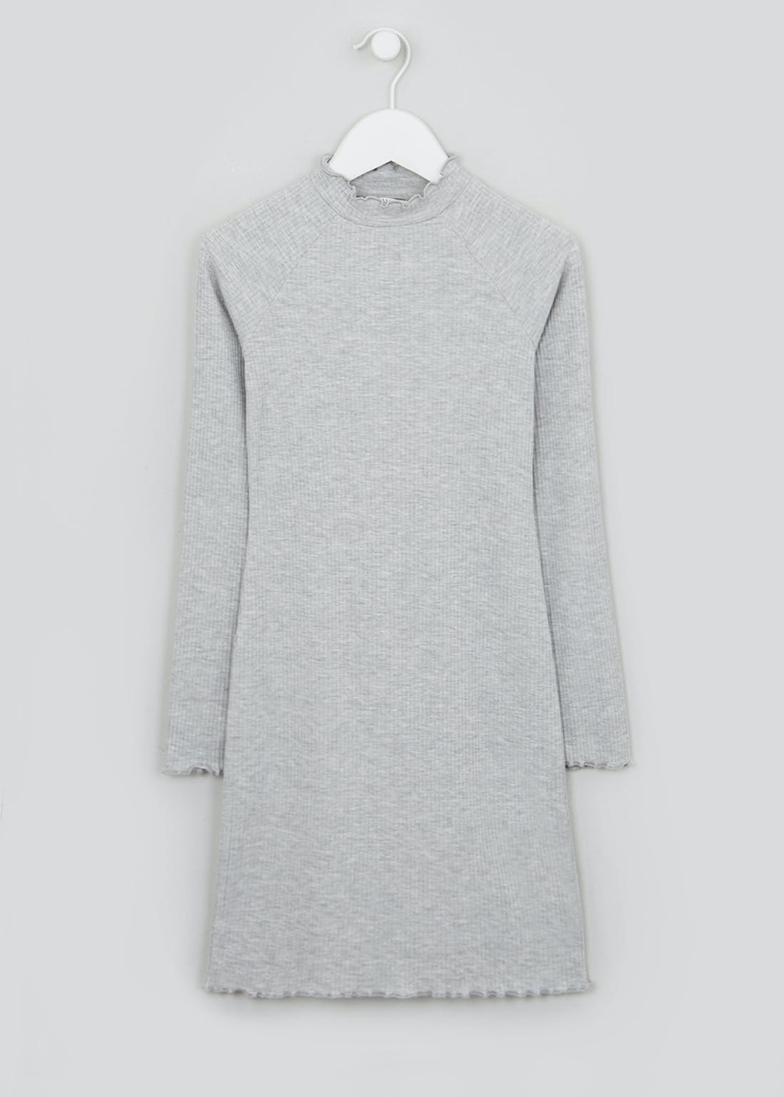 Girls Candy Couture Grey Long Sleeve Dress (9-16yrs)