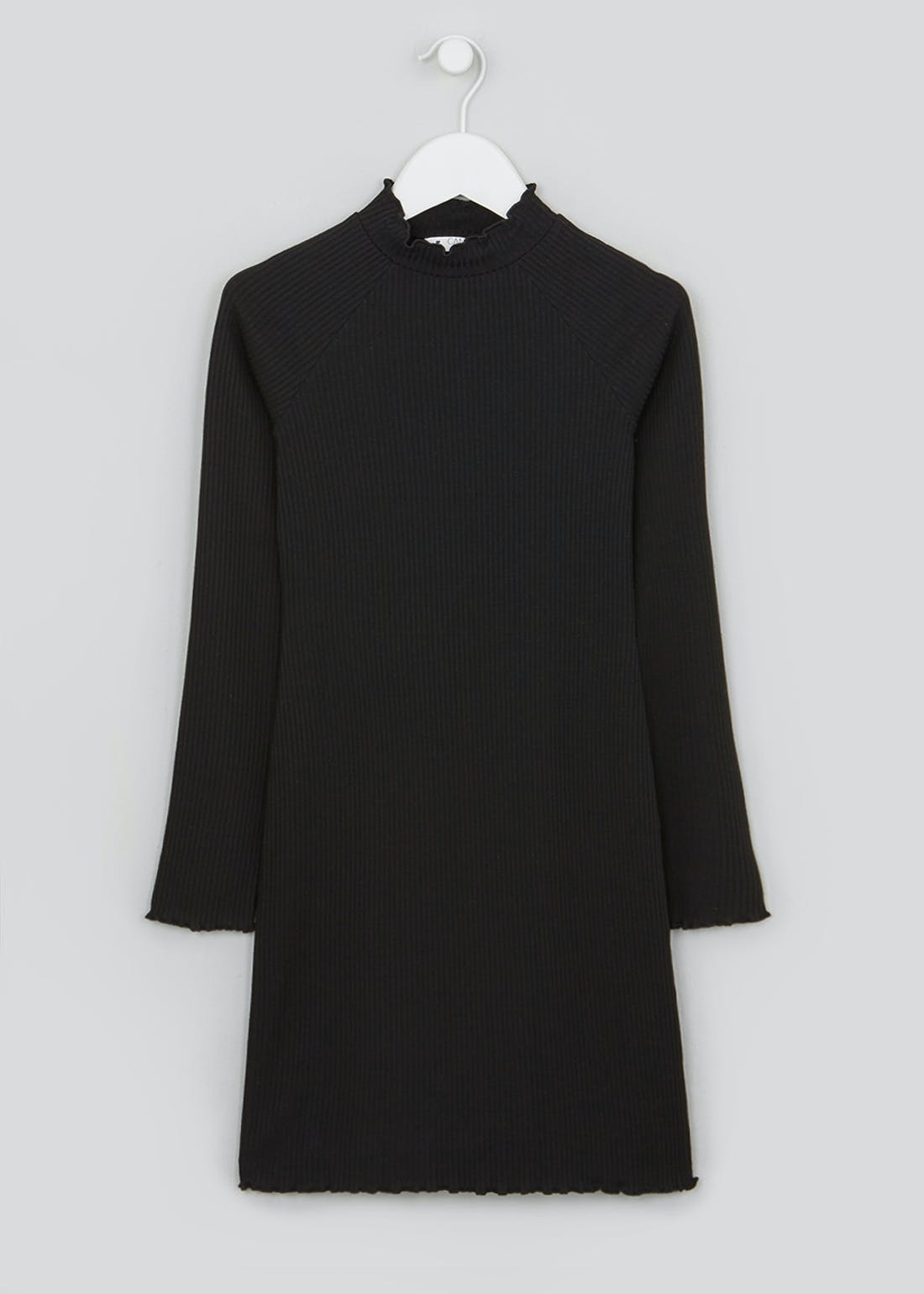 Girls Candy Couture Black Long Sleeve Dress (9-16yrs)