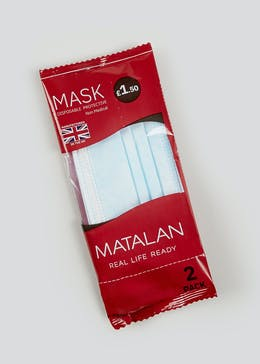 2 Pack Disposable Face Masks