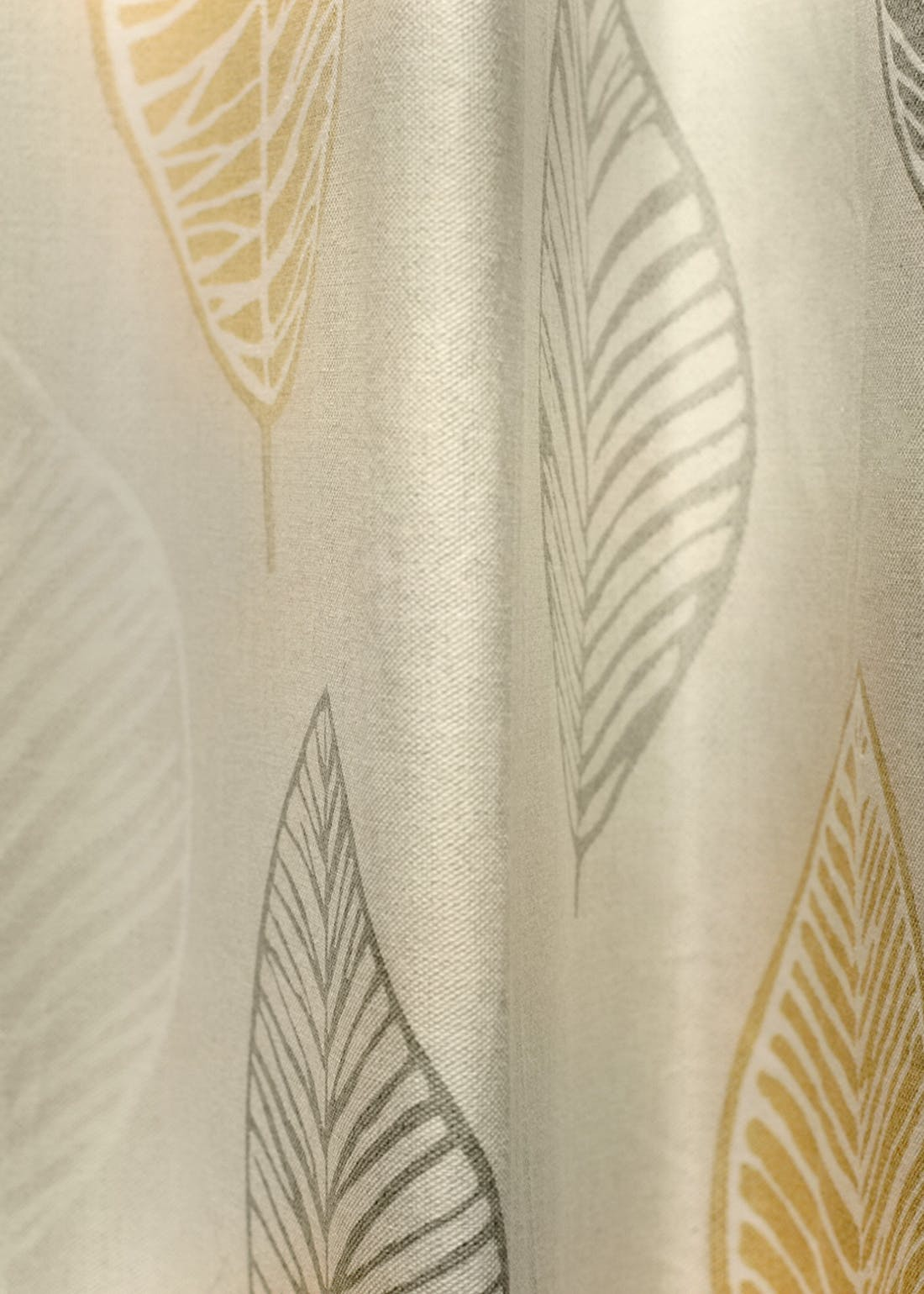 Fusion Scandi Leaf Eyelet Curtains