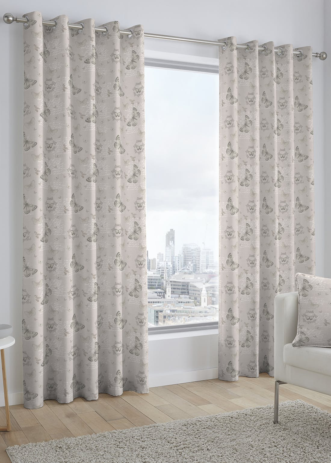 Fusion Papillon Eyelet Curtains