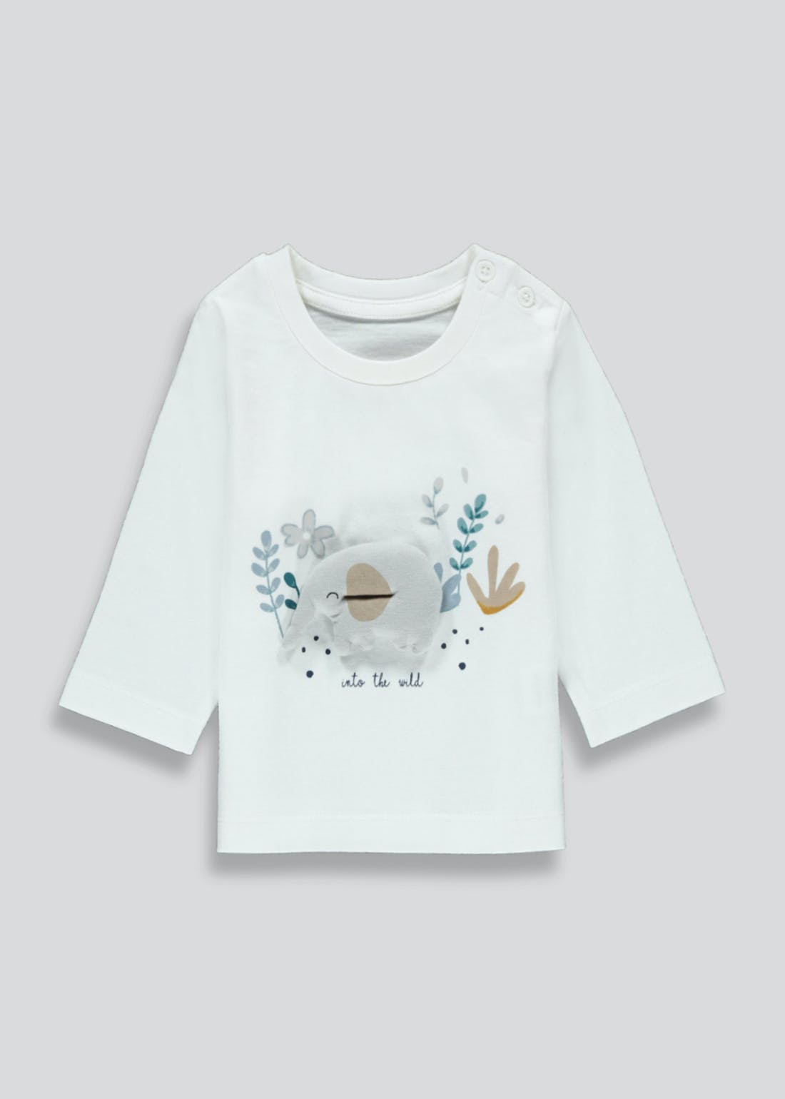 Girls Long Sleeve Elephant T-Shirt (Newborn-23mths)