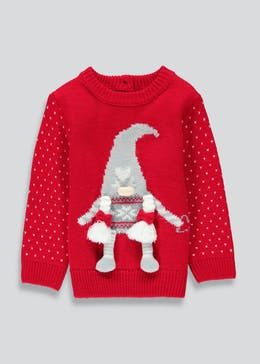 Girls Gnome Christmas Jumper (9mths-3yrs)