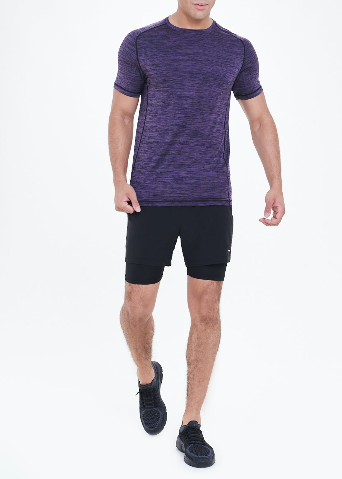 Souluxe Black 2 in 1 Gym Shorts