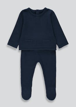 Unisex Knitted Top & Bottoms Set (Tiny Baby-23mths)