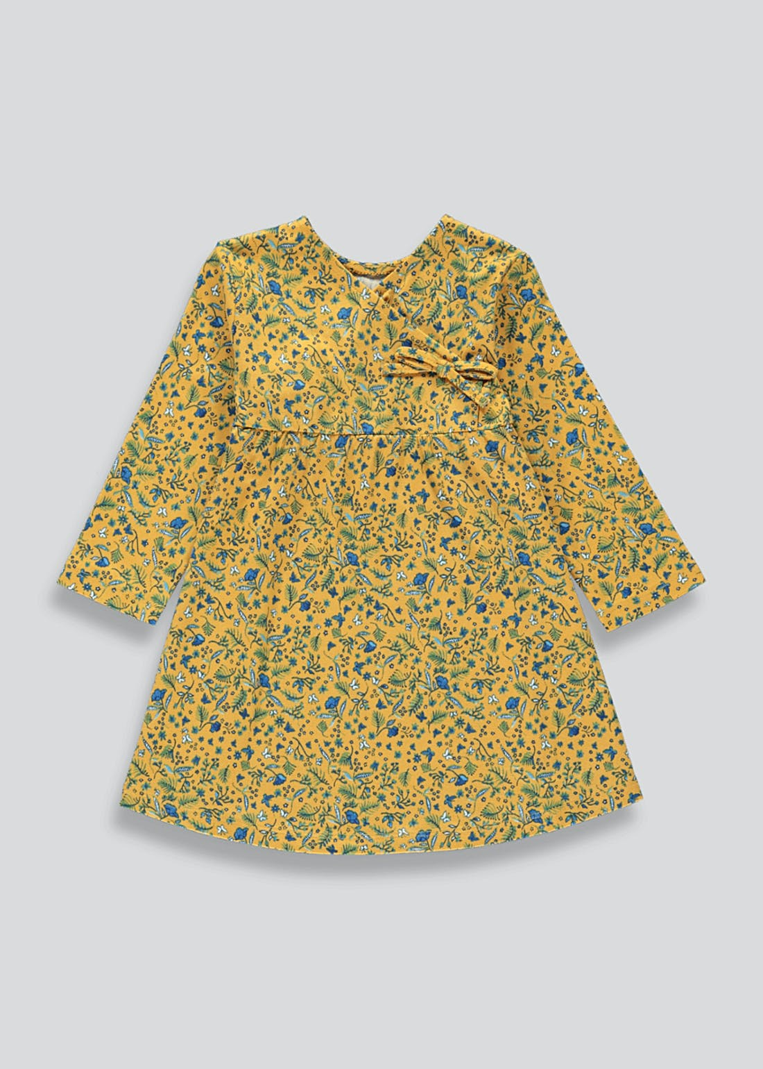 Girls Wrap Front Floral Dress (9mths-6yrs)