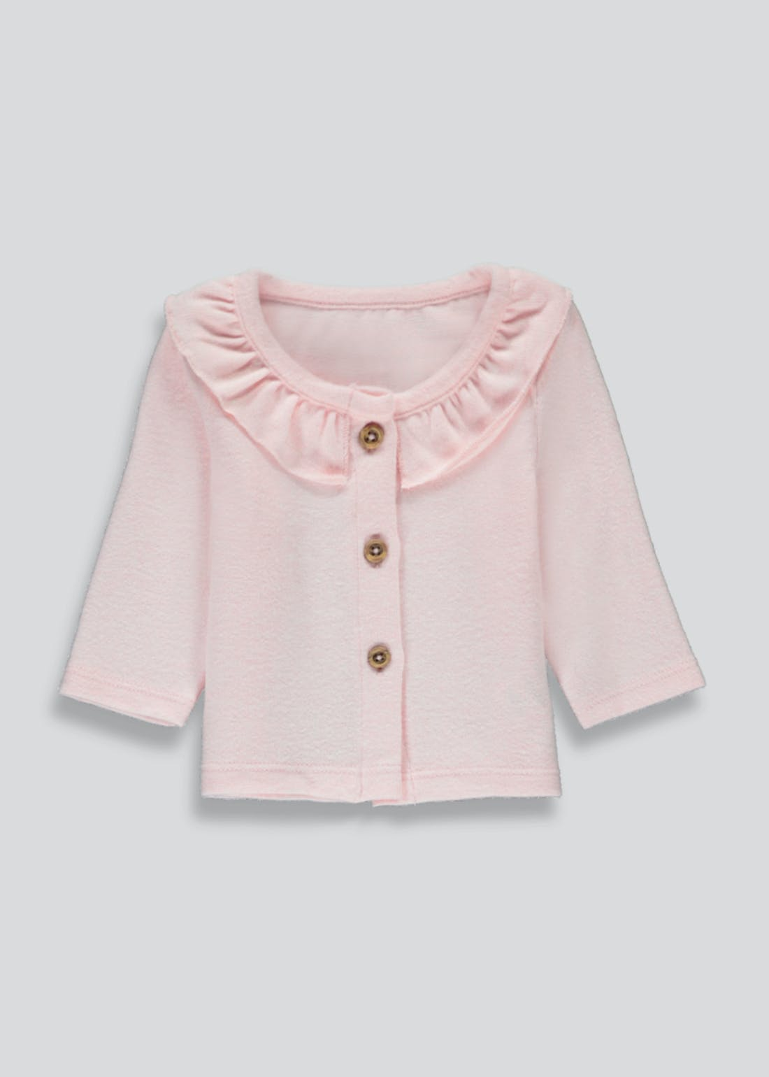Girls Frill Collar Cardigan (Tiny Baby-23mths)