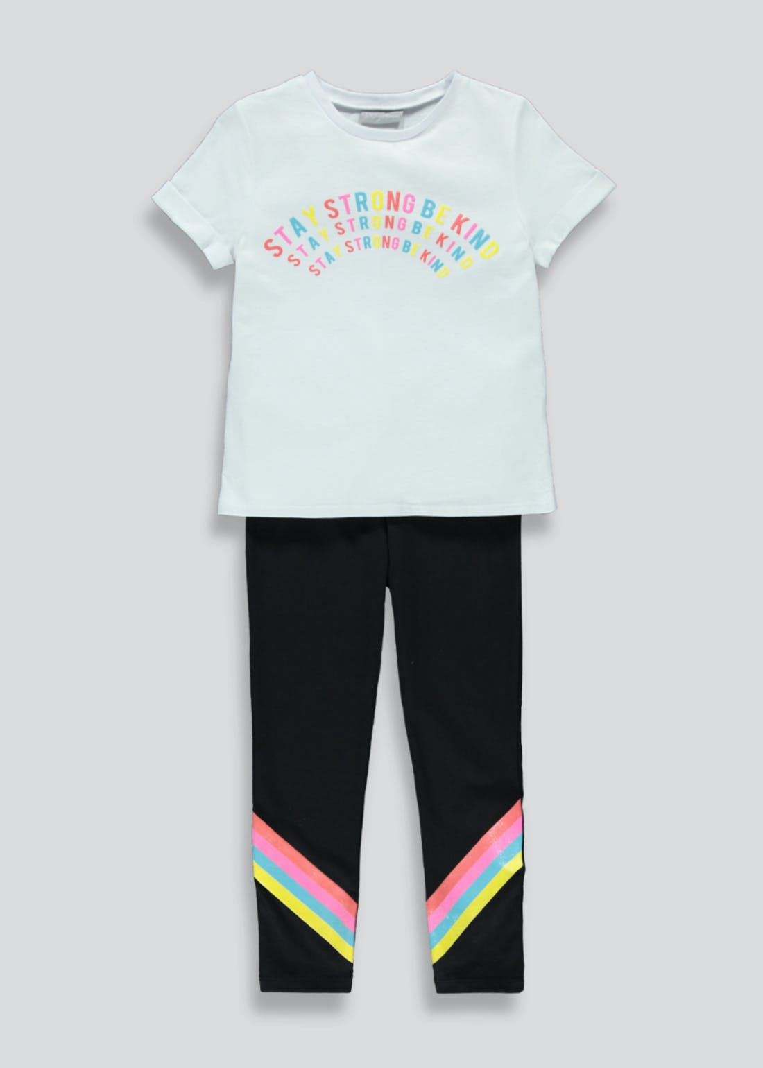 Girls Rainbow T-Shirt & Leggings Set (4-13yrs)