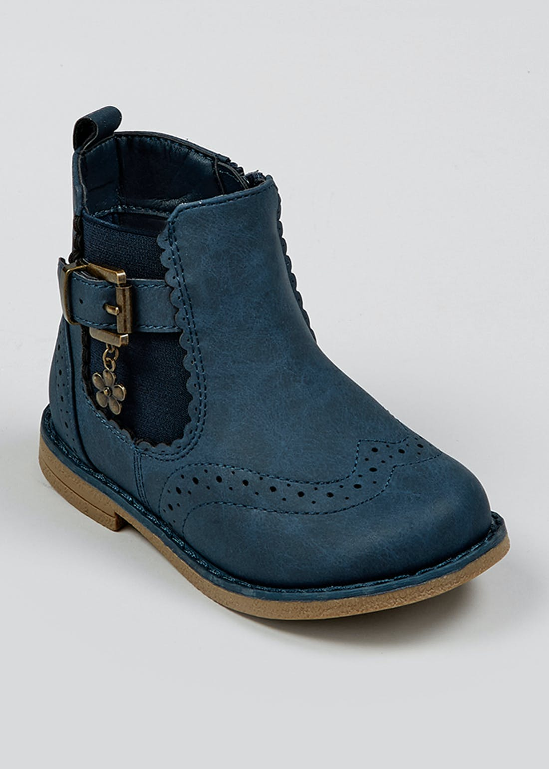 Girls Navy Chelsea Boots (Younger 4-12)