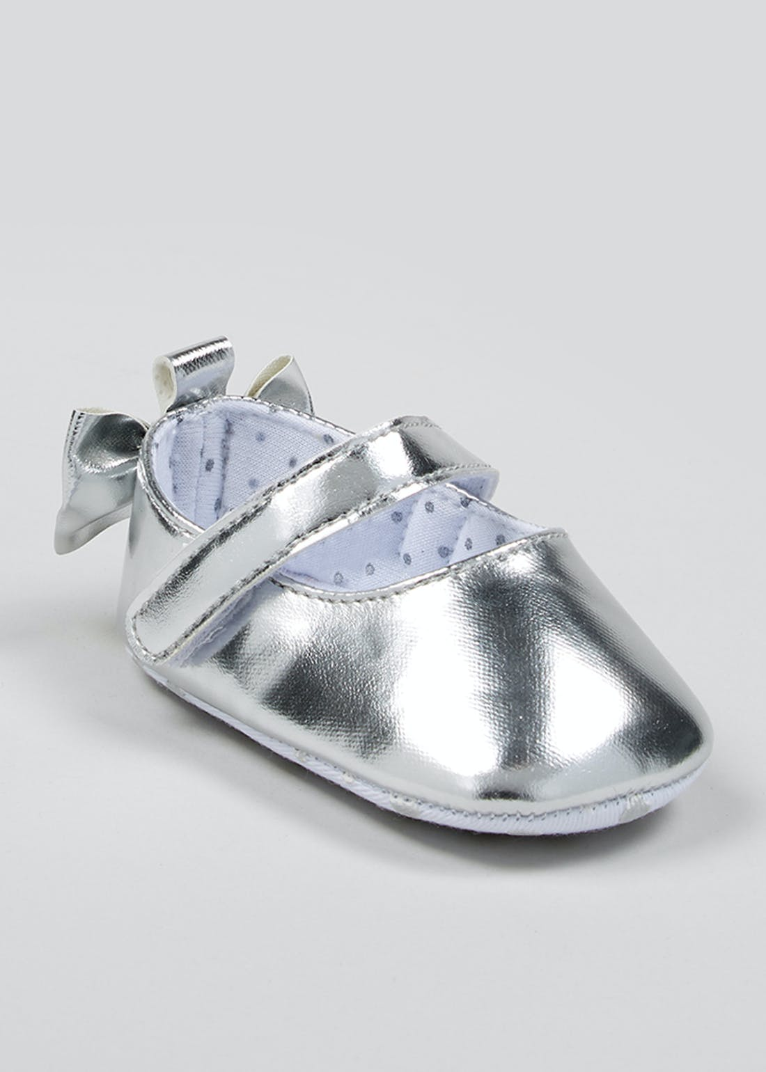 Girls Metallic Baby Ballet Shoes (Newborn-18mths)