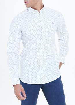 Stretch printed Oxford Shirt