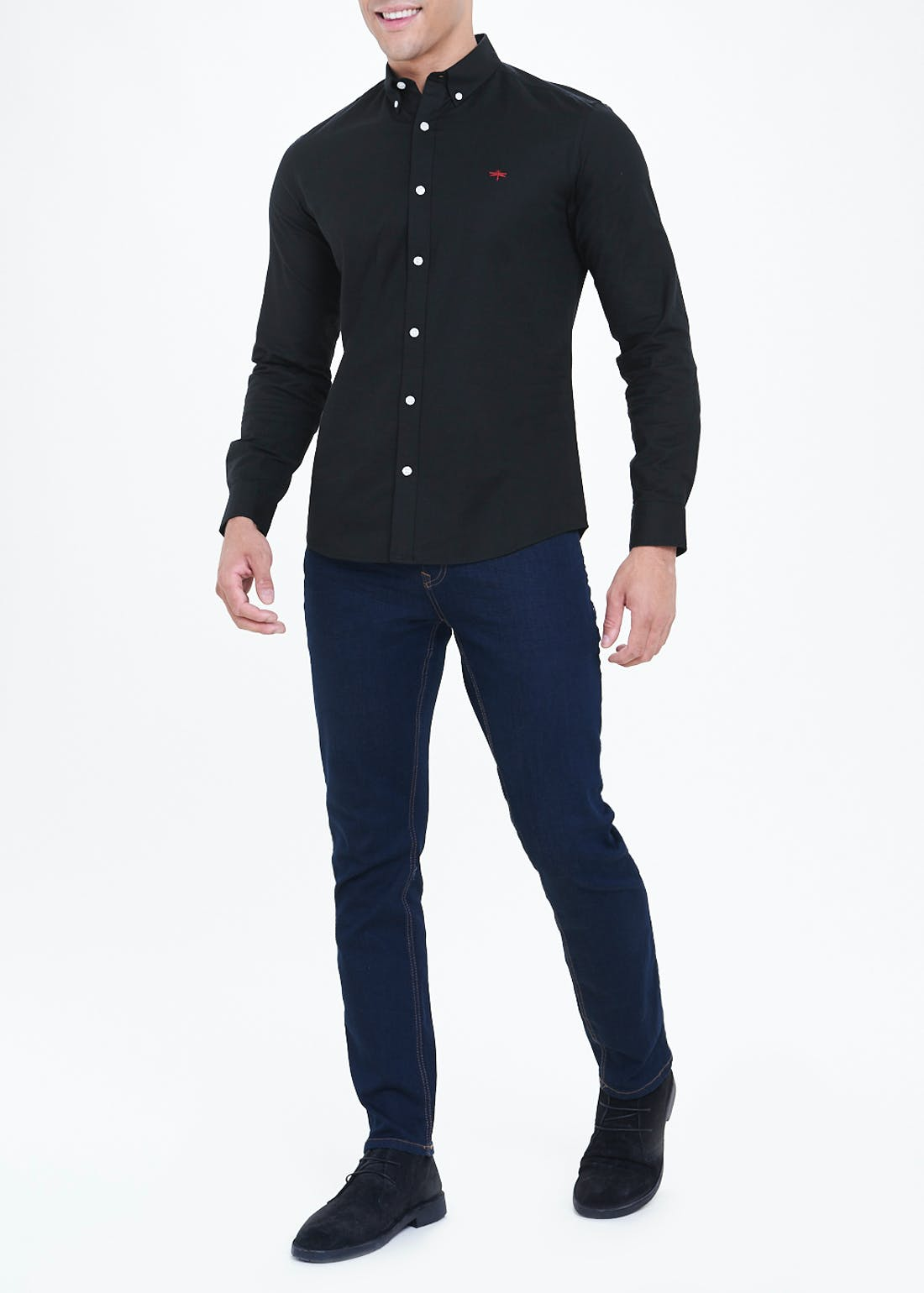 Long Sleeve Slim Fit Stretch Oxford Shirt