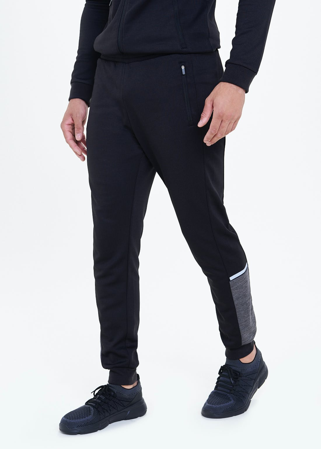 Souluxe Black Two Tone Joggers
