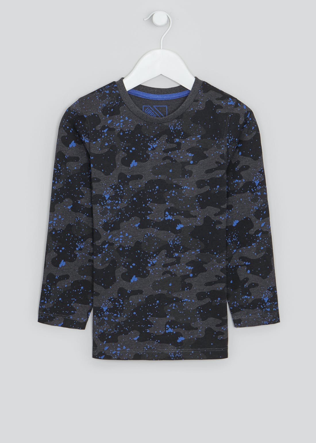 Boys Long Sleeve Camo T-Shirt (4-13yrs)