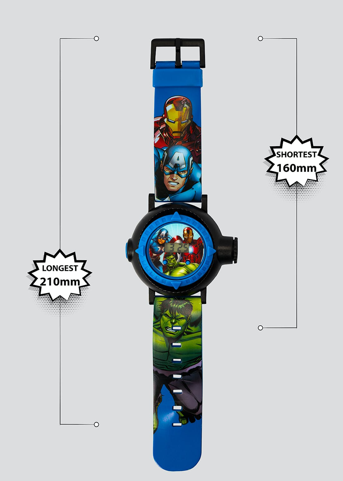 Kids Marvel Avengers Digital Projection Watch (One Size)