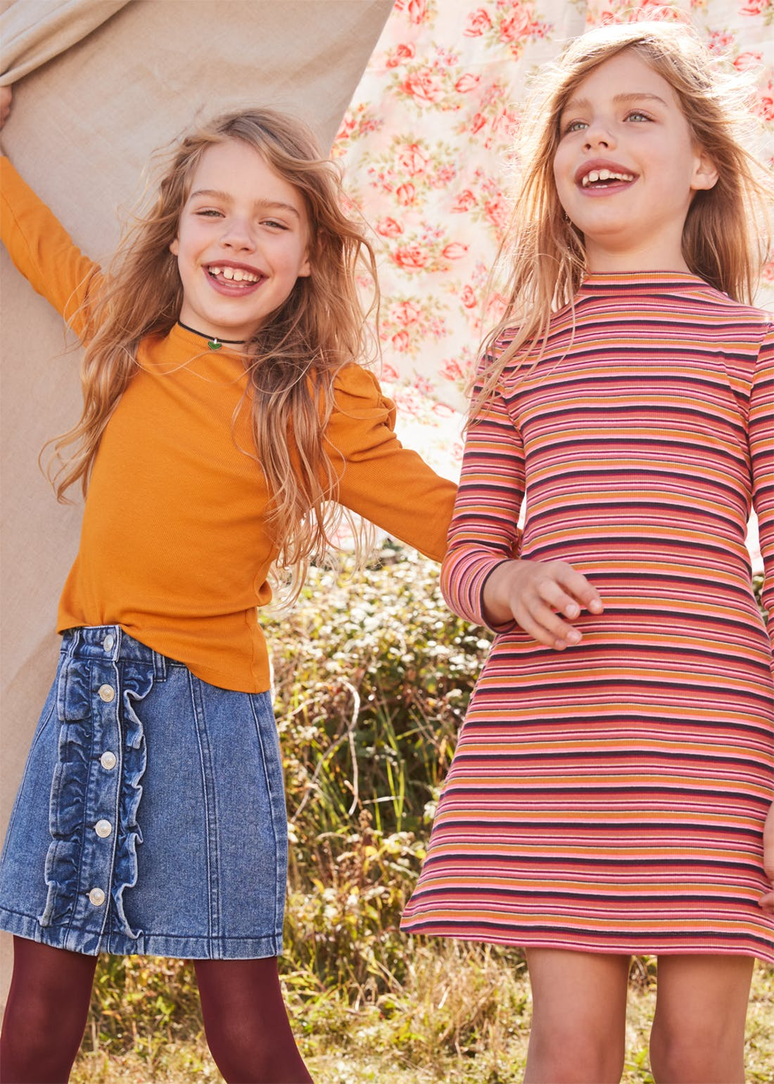 Girls Ribbed Puff Sleeve Top (4-13yrs)