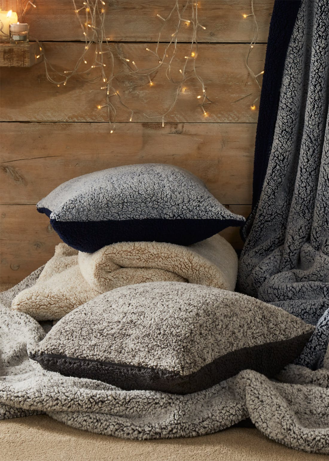 Frosted Sherpa Cushion (46cm x 46cm)
