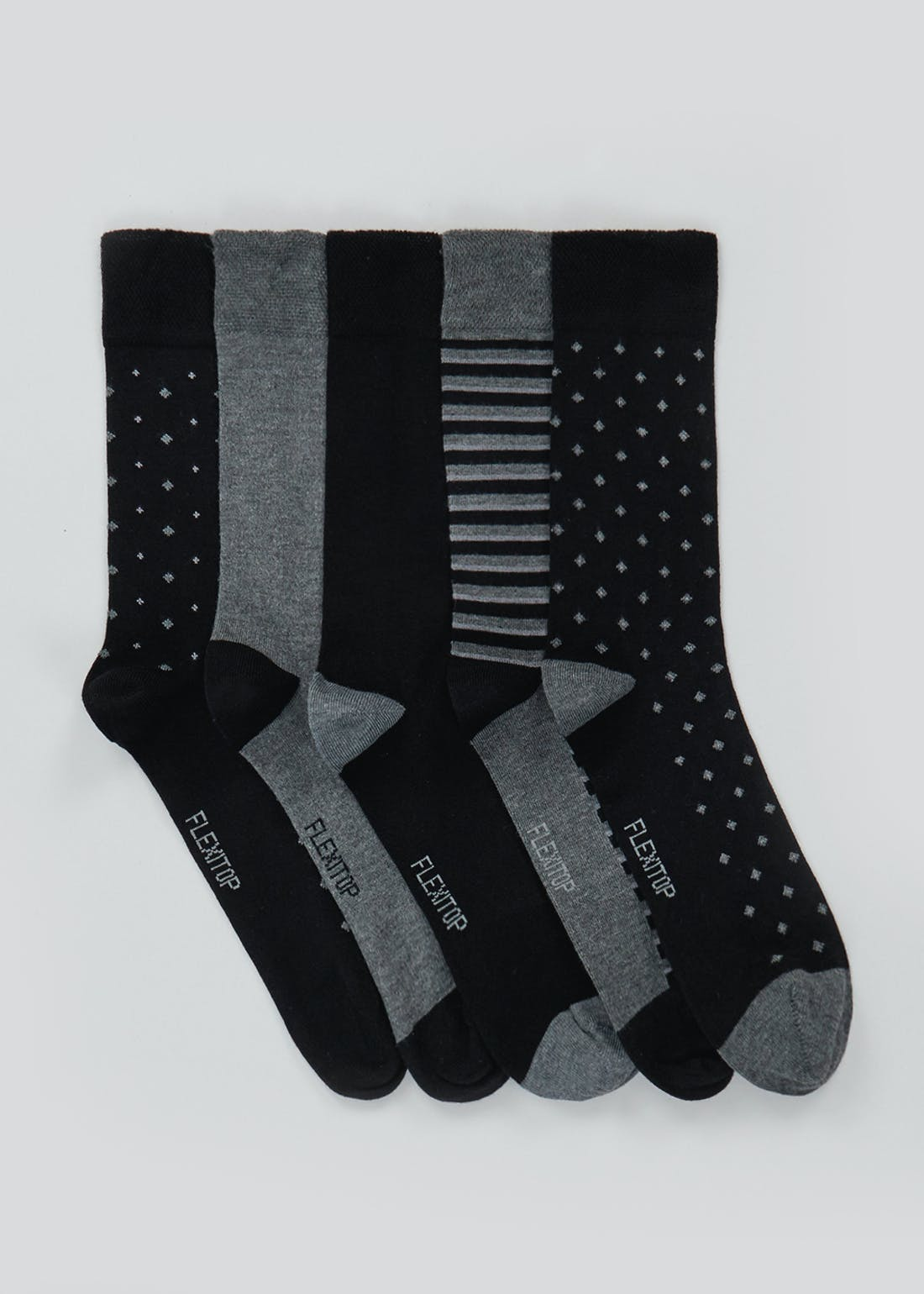 5 Pack Flexi Top Bamboo Socks