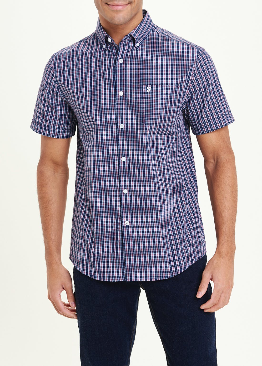 Farah Orbison Short Sleeve Check Shirt